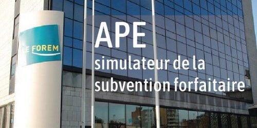 APE : Réforme du décret APE - simulateur de la subvention forfaitaire du Forem - Simulateur de la subvention forfaitaire UNIPSO