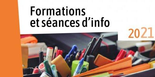 Formations et séances d'infos 2021